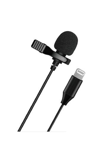 Bludfire Lavalier Gl-120 Profesyonel Youtuber İphone İpad Lightning Yaka Mikrofonu 1.5 Metre Siyah